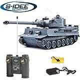 s-idee 22002 Battle Panzer 99807 German Tiger 1:28 mit integriertem Infrarot Kampfsystem 2.4 Ghz RC...