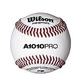 Wilson Baseball, A1010 BASEBALL PRO SERIES FLAT SEAM, Vollnarbenleder, weiß, Flache Nähte,...