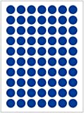 BLOUR 12Sheets / Pack 8mm Round Dot Candy Farbetikett Selbstklebende Dot Sticker Office School...