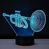 Boutiquespace 3D Nightlight Saxophone Tischleuchte Plexiglasplatte LED-Touch-Schalter Lichtfarbe die...