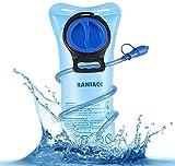 Raniaco Tragbare 2 Liter Trinkblase, Sport-Wasser-Blasen für den Außenbereich