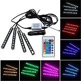 chunnron Auto Lichter Autoinnenbeleuchtung Led-Streifen Fernbedienung Neonlicht-glühlampe des...