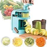 Gemüseschneider, handlicher Spiralschneider, Gemüsehobel, Gemüse-Zerkleinerer mit Behälter,...