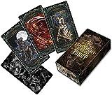 HFSKJWI 78PCS Tarot-Karten Deck Fantasie Gothic Alchemy Kartenspiel für Partei und Haushalt