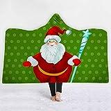 N/A MYBH Heimdecke Kapuzendecke 3D-Digitaldruck Weihnachtsserie Neue Geschenkdecke 13 (130 * 150cm)