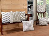 Modern Homes 100% Cotton Decorative Throw Pillow Covers/Cushion Covers 16x16 inches (Set of 6,...