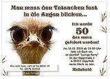 Einladungskarten Geburtstagsfeier Fete Party Wunschtext originell lustig witzig originell - 30...