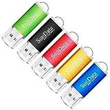 SunData USB Stick 32GB 5 Stück USB 2.0 Speicherstick Flash-Laufwerk Memory Stick (5 Mischfarben:...