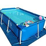 Pools Schwimmbecken Großer Schwimmbad mit Stahlrahmen Floats über dem Boden und Erwachsene...