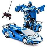 Highttoy Kinder Fernbedienung Transformator Auto Spielzeug RC Roboter Auto Spielzeug 2 in 1...