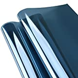 KINLO 300 x 75cm Spiegelfolie Sonnenschutzfolie Ohne Kleber für Fenster Sichtschutzfolie aus PVC...