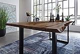 SAM Esszimmertisch 160 x 85 cm Mephisto, Baumkantentisch nussbaumfarben, Akazienholz massiv,...