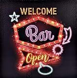 TrendLineMix Deko Bild Welcome Bar Open Leuchtschild Led Wand Raum Tür Batteriebetrieb
