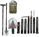 Allfine Camping-Schaufel Militär, robust, zusammenklappbar, kompaktes Werkzeug mit...