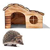 Igelhäuser für Garten Wasserdicht Holz Wellen Shelter Box Igel Futterstation Überwinterung...
