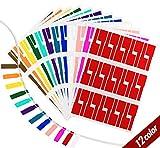 Agoer 12 Farben Kabel Aufkleber  360er Pack Wasserdich Selbstklebend Kabelbeschriftung...