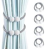 OTHWAY Vorhang Raffhalter Magnetisch, 4 Stück Vorhanghalter Elegante Perlenperle Holdbacks...