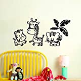 AWQR Kinder Zoo Wandaufkleber Home Decor Cartoon Tier Vinyl Wandtattoo Kreative Kinder Wandbild fr...
