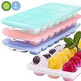 3 Packungen große Eiswürfelformen mit Deckel, LFGB zertifiziert, BPA-frei, Silikon-Eiswürfelform...