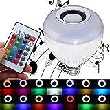 Weiches Licht nicht Glare 12W E27 Wireless Bluetooth Musik RGBW LED-Audiolautsprecher-Birne mit 24...
