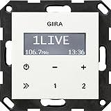 Gira 228403 Unterputz-Radio RDS ohne Lautsprecher ST55, reinweiß-glänzend