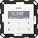 Gira 228403 Unterputz-Radio RDS ohne Lautsprecher ST55, reinwei-glnzend