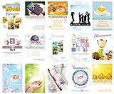 Edition Seidel Set 15 Premium Kommunionskarten mit Umschlag (Doppelkarten/Klappkarten mit...