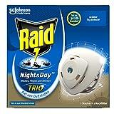Raid Night & Day Trio Insekten-Stecker, elektrischer Mücken-Schutz auch für Fliegen und Ameisen,...