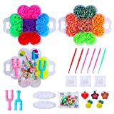 Herefun 4500 Rubber Bands Knitting Tools, DIY Gummibänder Kinder Loom Basteln, Strickwerkzeug Set,...