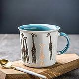 L-entcy 385 ml kreativer niedlicher Cartoon-Kinder-Trinkbecher, Kaffeetasse, Tasse mit...