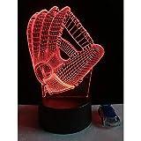 3D Baseballhandschuh Mitt Nightlight 7 Farbwechsel Led Schreibtisch Tischlampe Stimmung Kind Schlaf...