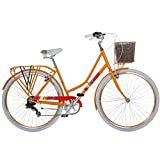 Damenrad 700c Hollandrad Stadtrad 28 Zoll Galano Blush 7 Gang Fahrrad Damen City (orange, 48 cm)