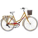 Damenrad 700c Hollandrad Stadtrad 28 Zoll Galano Blush 7 Gang Fahrrad Damen City (orange, 48 cm)
