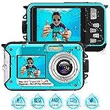 Unterwasserkamera 2.7K Full HD Digitalkamera Wasserdicht 48 MP Unterwasserkamera Digital Wasserdicht...