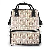 Wickeltaschen-Rucksack, große Babytaschen, multifunktionaler Reiserucksack für Mama und Papa mit...