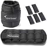 Sportneer Gewichtsmanschetten, Verstellbares Fußgelenkgewichte Set, Fuß-/Handgelenkgewicht...