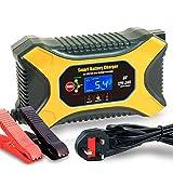 JIAOO Autobatterie Ladegerät 6V 2A 12V 6A 24V 3A Volt Motorrad batterieladegerät Mit...