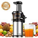Aobosi Kompakt Slow Juicer/Edelstahl Entsafter/Saftpresse für Obst und Gemüse mit tragbar...