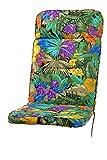 Kettler Polen KETTtex 8194 Auflage Hochlehner Kreta extrahoch Papagei 123x50x8 cm Sitzpolster
