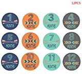 12 Stück/Set hübsche Monatsaufkleber, perfekt für Babys erstes Jahr, durchdachter...