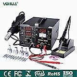 Mbuynow YIHUA Digital Lötstation 853D 765W, 3 in1 SMD Lötstation Lötkolben Entlötstation...