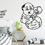 Tianpengyuanshuai Barber Cartoon Wandaufkleber PVC Raumkunst Aufkleber dekorative Vinyl...
