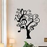 BailongXiao Moderne Musik Baum Wandaufkleber Familie Dekoration Aufkleber Kinderzimmer Wohnzimmer...