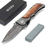 GVDV Taschenmesser mit Spitzer - Zweihand Klappmesser 7Cr17 Edelstahl-Taktikmesser, Outdoor Survival...