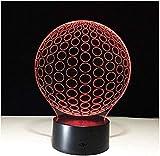 giyiohok Nachtlicht 3D Lampe USB LED Nachtlichter Fußball Lampe Touch Nacht LED Lampe Beleuchtung...