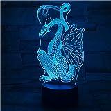 Cartoon Dinosaurier Drache 3D Lampe Nachtlichter LED USB Stimmung Tisch Nachtlicht Multicolor Touch...