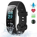 [Neuestes Modell] Fitness Tracker, KUNGIX Schrittzähler Uhr IP68 Wasserdicht Smartwatch mit...