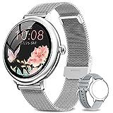 NAIXUES Smartwatch Damen, Fitness Tracker IP67 Wasserdicht, Fitnessuhr mit Aktivitätstracker...