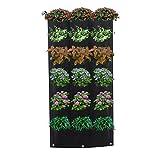 Moonvvin Vertikal Garten Pflanzengefäß Beutel Pflanze Wand Aufhänger Wachsende Taschen - Gut für...