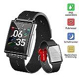 Dwfit Smartwatch, Fitness Uhr mit Pulsmesser Schlafmonitor Wasserdicht Fitness Armband Sportuhr mit...